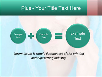 Man putting cream PowerPoint Template - Slide 75