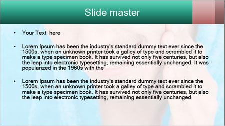 Man putting cream PowerPoint Template - Slide 2