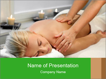 Woman at spa PowerPoint Template