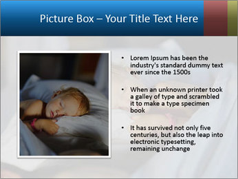 Adorable toddler girl in bedroom at the morning PowerPoint Template - Slide 13