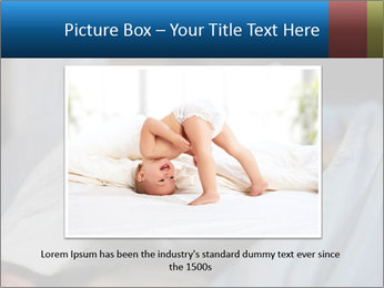 Adorable toddler girl in bedroom at the morning PowerPoint Template - Slide 16