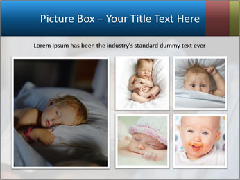 Adorable toddler girl in bedroom at the morning PowerPoint Template - Slide 19