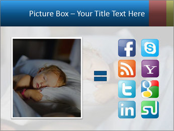 Adorable toddler girl in bedroom at the morning PowerPoint Template - Slide 21