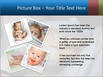 Adorable toddler girl in bedroom at the morning PowerPoint Template - Slide 23