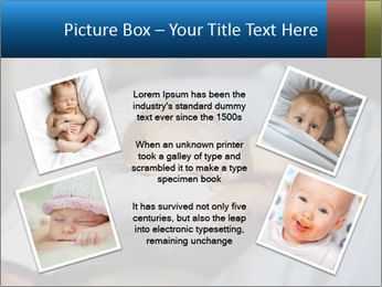 Adorable toddler girl in bedroom at the morning PowerPoint Template - Slide 24