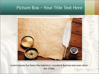 The hand writes musical PowerPoint Template - Slide 15