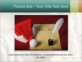 The hand writes musical PowerPoint Template - Slide 16