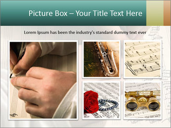The hand writes musical PowerPoint Template - Slide 19
