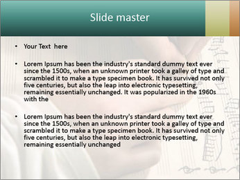 The hand writes musical PowerPoint Template - Slide 2