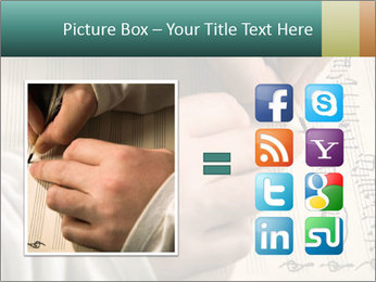 The hand writes musical PowerPoint Template - Slide 21