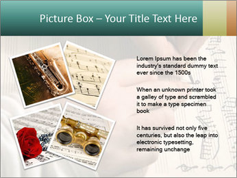 The hand writes musical PowerPoint Template - Slide 23