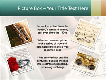 The hand writes musical PowerPoint Template - Slide 24
