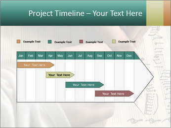 The hand writes musical PowerPoint Template - Slide 25