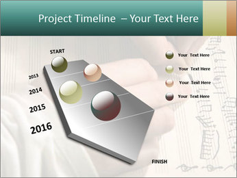 The hand writes musical PowerPoint Template - Slide 26