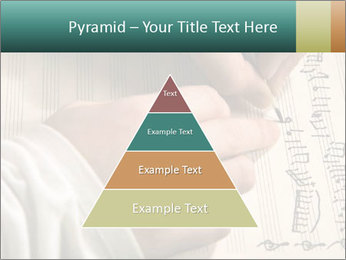 The hand writes musical PowerPoint Template - Slide 30