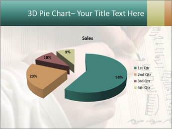 The hand writes musical PowerPoint Template - Slide 35