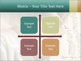 The hand writes musical PowerPoint Template - Slide 37