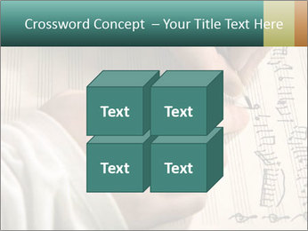 The hand writes musical PowerPoint Template - Slide 39