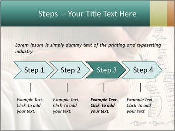 The hand writes musical PowerPoint Template - Slide 4