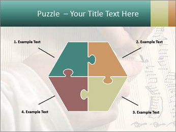 The hand writes musical PowerPoint Template - Slide 40