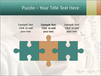 The hand writes musical PowerPoint Template - Slide 42