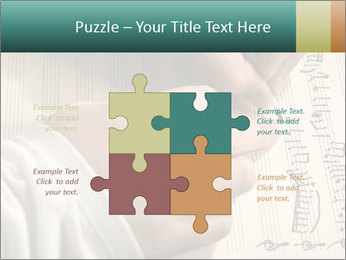 The hand writes musical PowerPoint Template - Slide 43