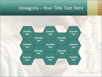 The hand writes musical PowerPoint Template - Slide 44
