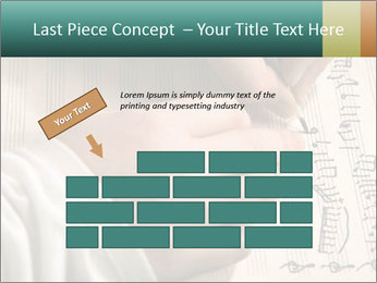The hand writes musical PowerPoint Template - Slide 46