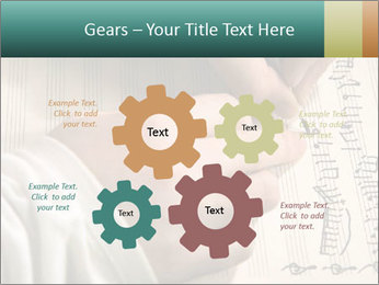 The hand writes musical PowerPoint Template - Slide 47