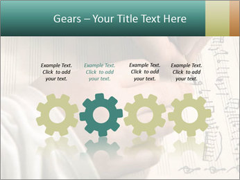 The hand writes musical PowerPoint Template - Slide 48