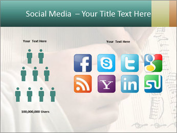 The hand writes musical PowerPoint Template - Slide 5