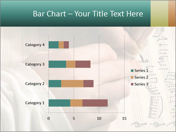 The hand writes musical PowerPoint Template - Slide 52