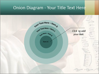 The hand writes musical PowerPoint Template - Slide 61