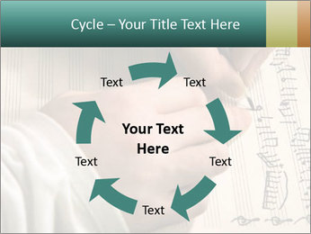 The hand writes musical PowerPoint Template - Slide 62