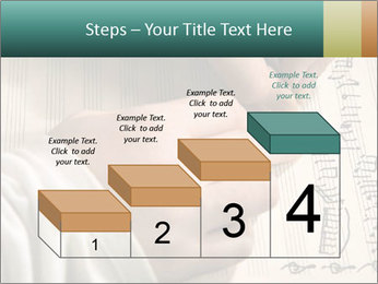 The hand writes musical PowerPoint Template - Slide 64