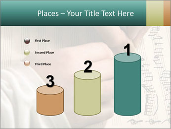The hand writes musical PowerPoint Template - Slide 65
