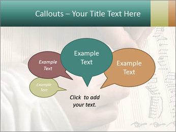 The hand writes musical PowerPoint Template - Slide 73