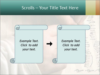 The hand writes musical PowerPoint Template - Slide 74