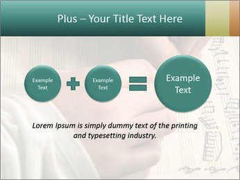 The hand writes musical PowerPoint Template - Slide 75