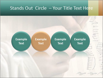 The hand writes musical PowerPoint Template - Slide 76