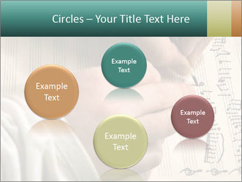 The hand writes musical PowerPoint Template - Slide 77