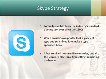 The hand writes musical PowerPoint Template - Slide 8