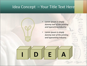 The hand writes musical PowerPoint Template - Slide 80
