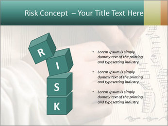 The hand writes musical PowerPoint Template - Slide 81