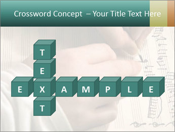 The hand writes musical PowerPoint Template - Slide 82
