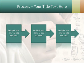 The hand writes musical PowerPoint Template - Slide 88