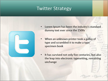 The hand writes musical PowerPoint Template - Slide 9