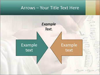The hand writes musical PowerPoint Template - Slide 90