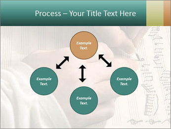 The hand writes musical PowerPoint Template - Slide 91