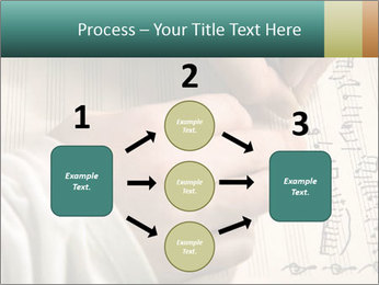 The hand writes musical PowerPoint Template - Slide 92